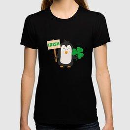 Irish Penguin with shamrock Bjib4 T-shirt