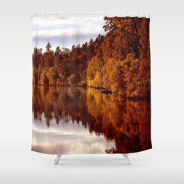 RADIANT AUTUMNAL REFLECTION Shower Curtain