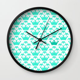 Crown background #society6 #decor #buyart #artprint Wall Clock