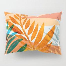 Golden Greek Garden / Sunset Landscape Pillow Sham