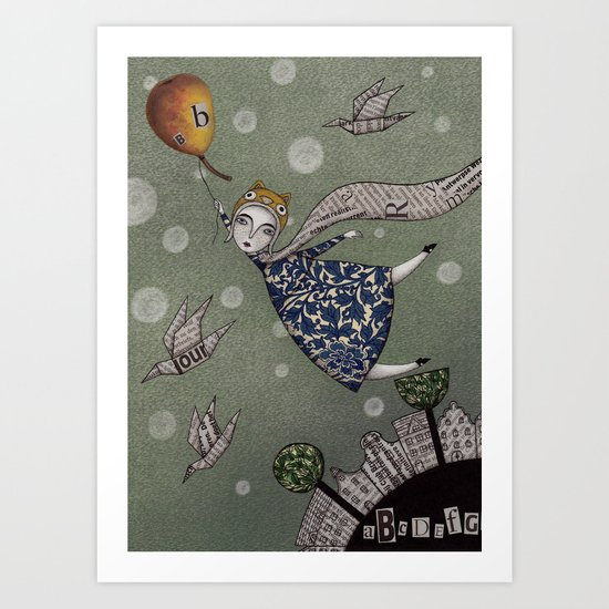 You can fly, Mary! Art Print