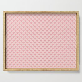 Large Blush Pink Lovehearts on Light Pink Serving Tray