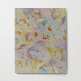 Watercolor Abstract Metal Print