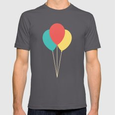 #45 Balloons Asphalt SMALL Mens Fitted Tee