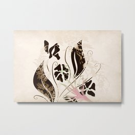 Spring Breeze Floral Print Metal Print