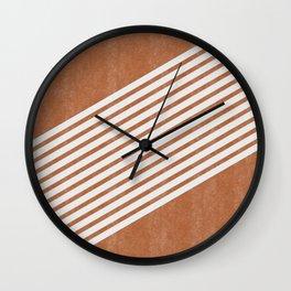 Mid Century Minimal Abstract Lines Right Wall Clock
