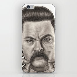 Ron Swanson iPhone Skin