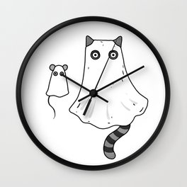Cat Ghost & Mouse Ghost – Nightmare Wall Clock