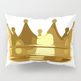 Royal Shining Golden Crown for King or Queen Pillow Sham