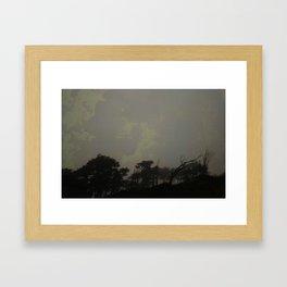 radiation skyline Framed Art Print