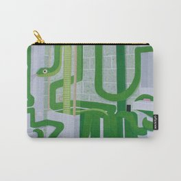 Green Snake In The Bathroom Carry-All Pouch