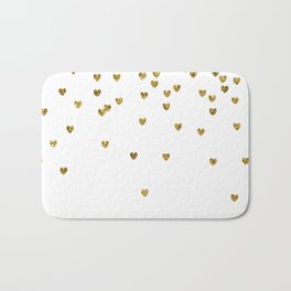 Gold Hearts Bath Mat