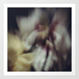 Blured peony Art Print
