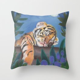 What Does the Tiger Dream? Throw Pillow