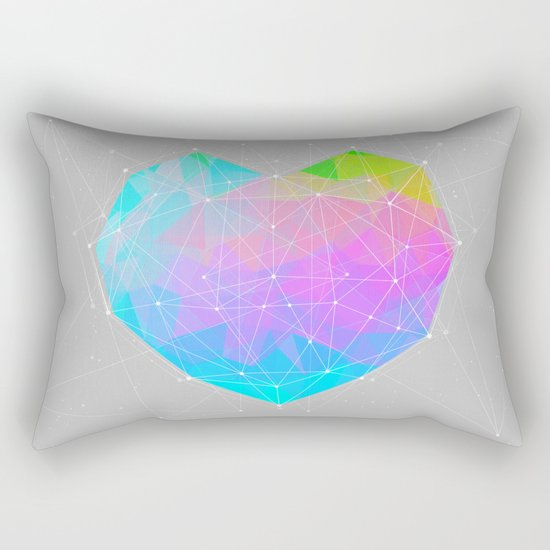 The Dots Will Somehow Connect (Geometric Heart) Rectangular Pillow