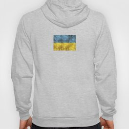 Vintage Aged and Scratched Ukrainian Flag Hoody