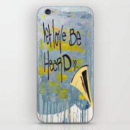 Let Love Be Heard! iPhone Skin