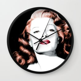 Rita Hayworth Large Size Portrait Wall Clock