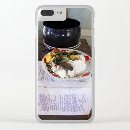 Buddist Food Offering Clear iPhone Case