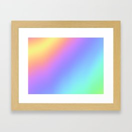 Holographic Foil Multi Colored Pattern Colorful Gradient Abstract Rainbow Framed Art Print