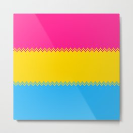 pixel pride- pansexual pride flag Metal Print