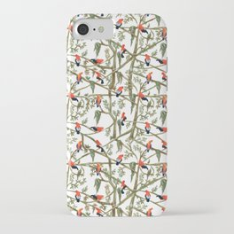 Gallitos de las rocas // Peruvian national bird gathering iPhone Case