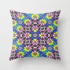 Daffodil Garden Throw Pillow