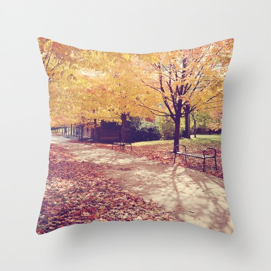 The Autumn Path Throw Pillow