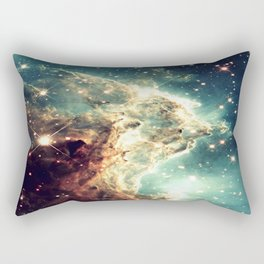 Monkey Head Nebula. Dreamy Teal Rectangular Pillow