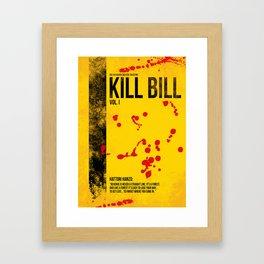 Kill Bill - Vol. I minimal movie poster Framed Art Print