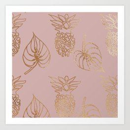 Gold Tropical Art Print
