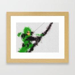 Green Arrow Framed Art Print
