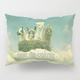 NEVER STOP EXPLORING 1 (THE CLOUDS) Pillow Sham