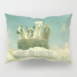 ALPACAS EXPLORING (THE CLOUDS) Pillow Sham