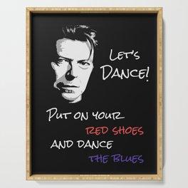 Let's Dance Song Lyric Art Print Serving Tray