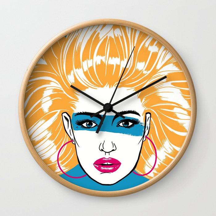 Summer Blonde '82 Wall Clock