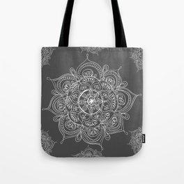 Gray mandala Tote Bag