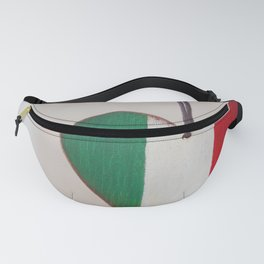 Italian flag, flag of Italy, painted on wood Fanny Pack