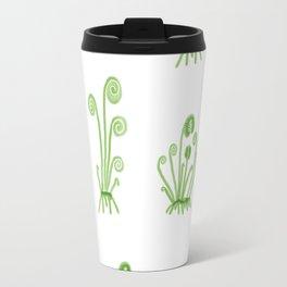 Fiddlehead Ferns Woodland Print Travel Mug