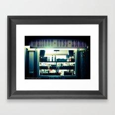 whiskey and ammo Framed Art Print