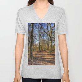 Spring Forest Path Unisex V-Neck
