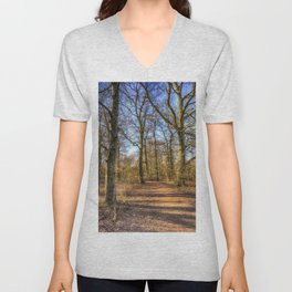 Spring Forest Path Unisex V-Neck