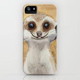 Meerkat 'Stache iPhone Case