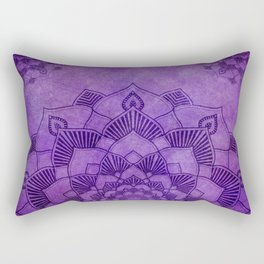 Deep Purple Lotus Mandala Rectangular Pillow