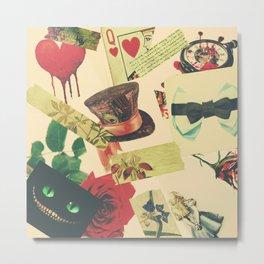 Wonderland Collage 2 Metal Print