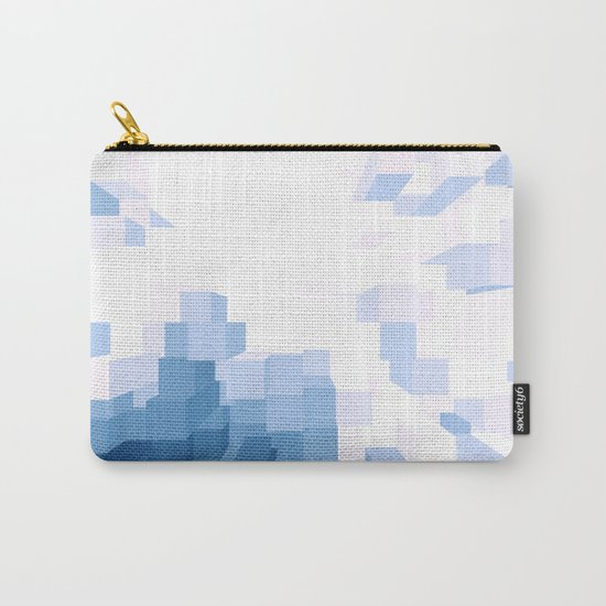 Blue 3D Carry-All Pouch