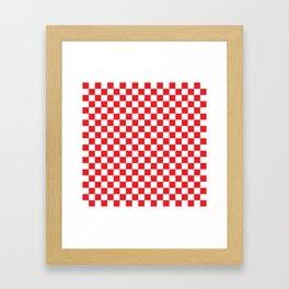 Red Checkerboard Pattern Framed Art Print