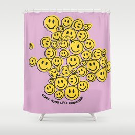 Smile face Shower Curtain