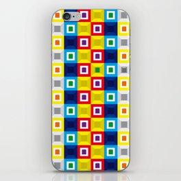 Squares Pattern iPhone Skin