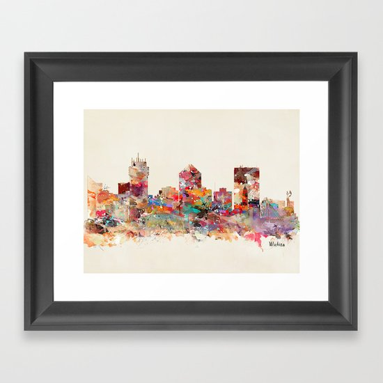 wichita kansas Framed Art Print